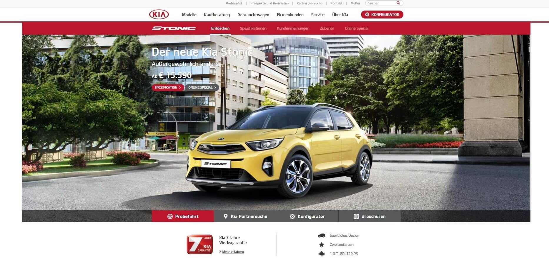 kia.at Website