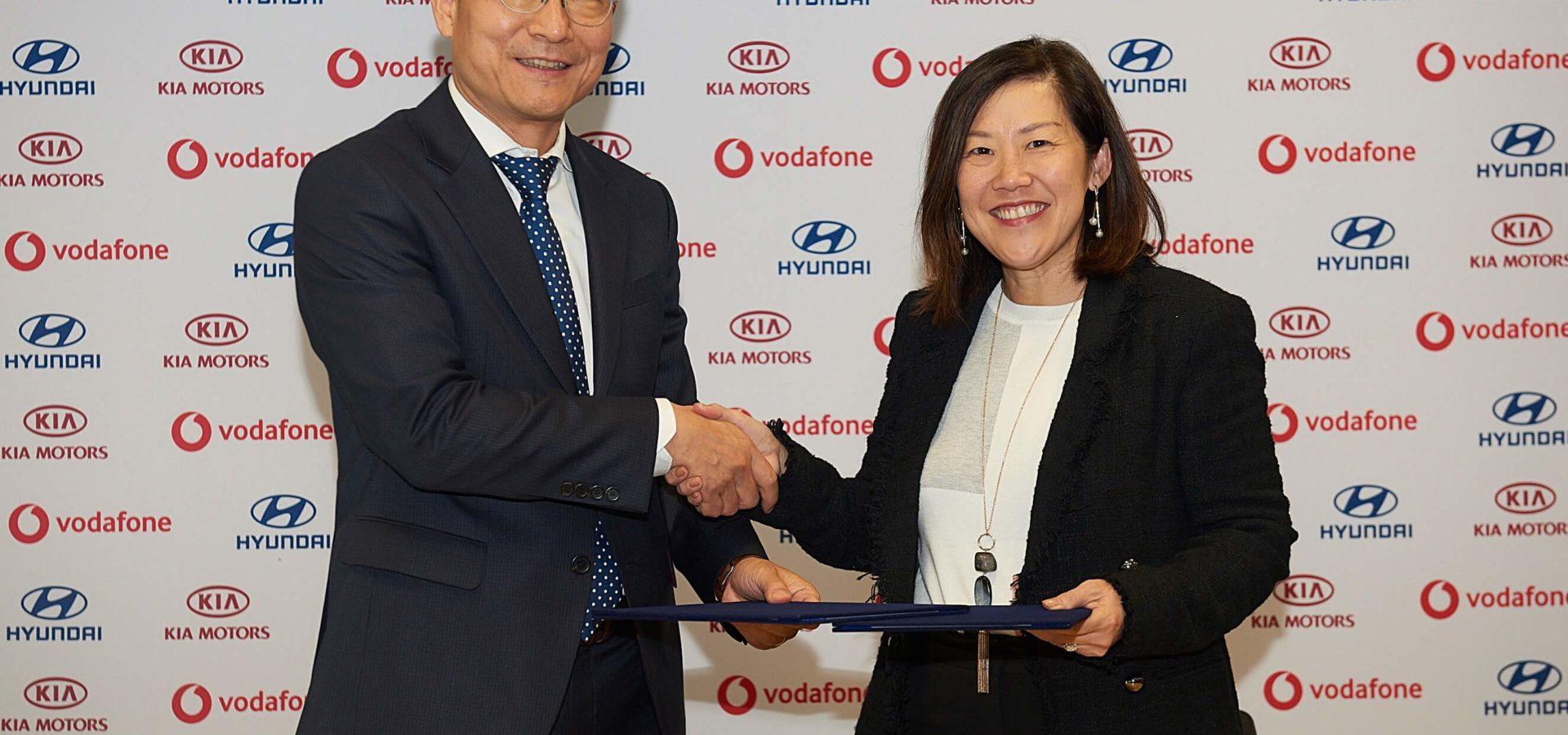 Hyundai und Kia mit Vodafone